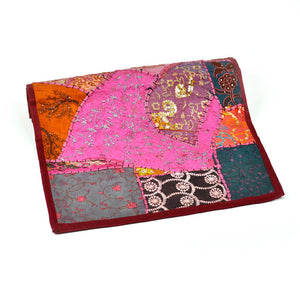Patchwork Table Runner Maroon