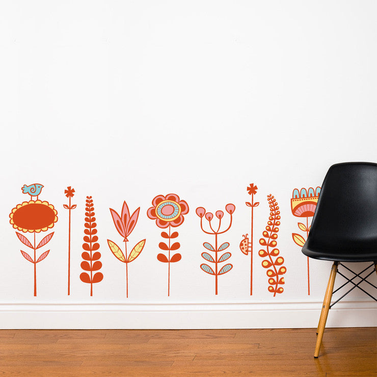 Garden Decal 21x57 Multi