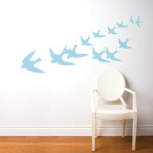 Freedom Decal 28x71 Pastel Blue