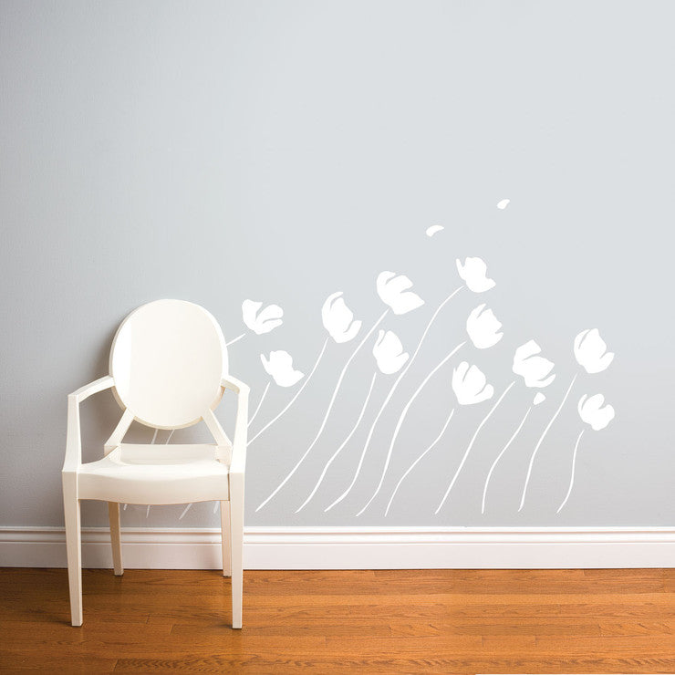 In The Wind Decal 36x63 White