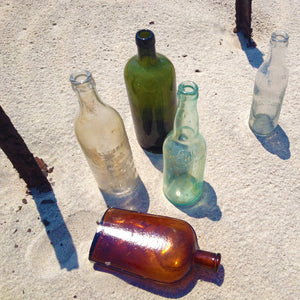 Found Bottles Set Of 5