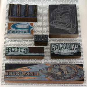 Letterpress Blocks Set Of 7