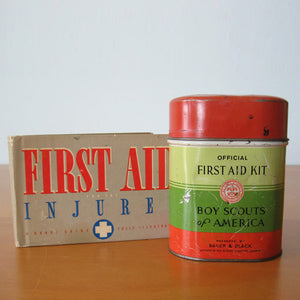 Boy Scouts First Aid Tin & Book