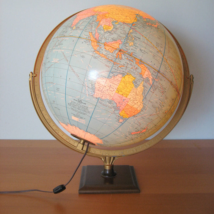 Cram's 16\ Illuminated Globe""