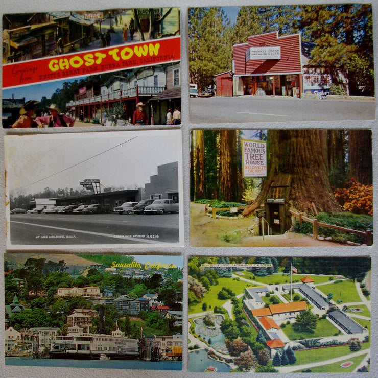 California Post Cards Set Of 6