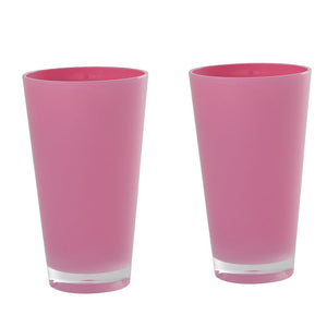 Retro Tumbler Tall Pink 2 Pack