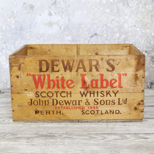 Dewar's Label Crate White