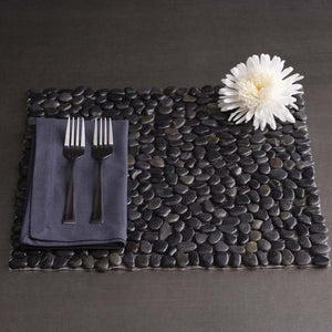 Beach Stone Placemat Black