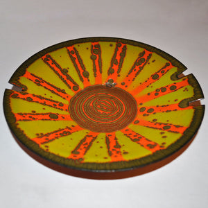 Enameled Steel Ashtray