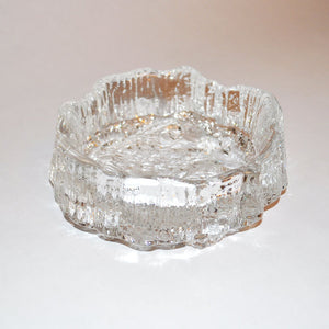 Cast Glass Dish Rock Pattern