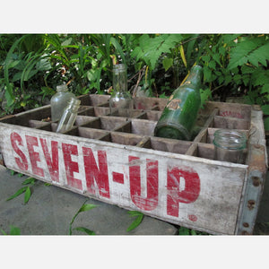7-Up Crate With Bottles II