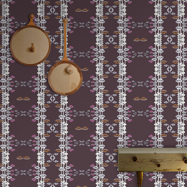 Enchanted Woods Roll 30x180 Plum