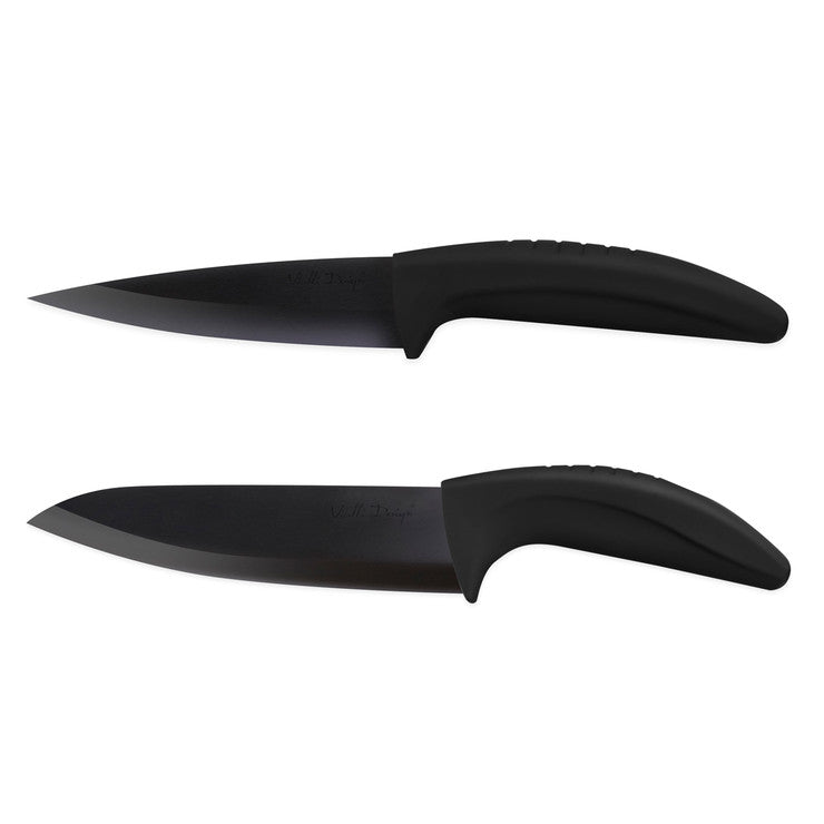 Ceramic Knife Large Black 2 Pack