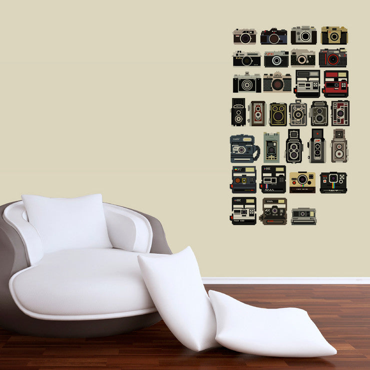 8-Bit Cameras Decal Set