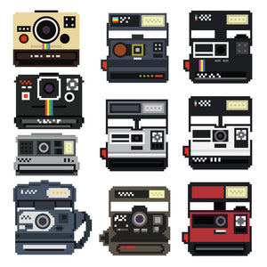 8-Bit Polaroid Decal Set