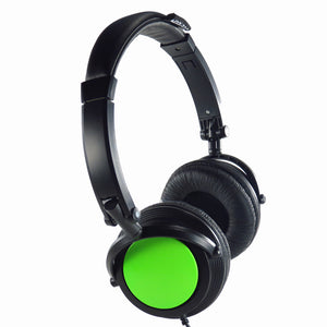 Black Chameleon Headphones Green
