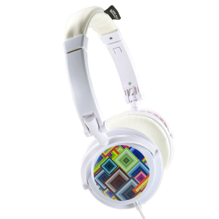 White Chameleon Headphones Retro