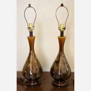 Glaze Drip Lamps Pair