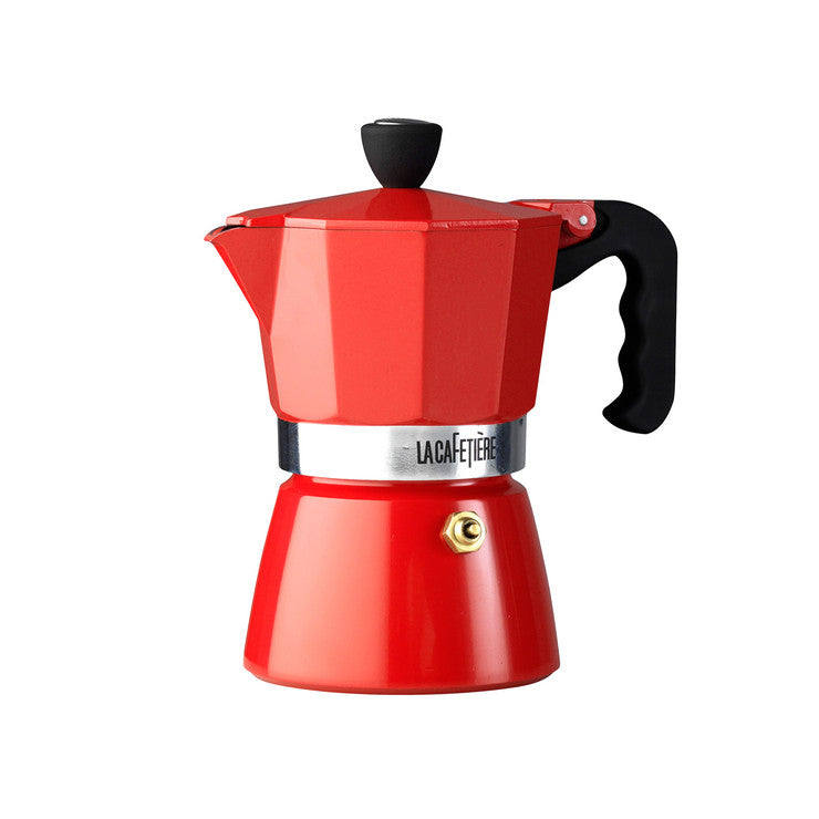 Espresso Maker 3-Cup Red