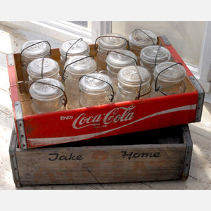 Coca-Cola Crate And 12 Jars