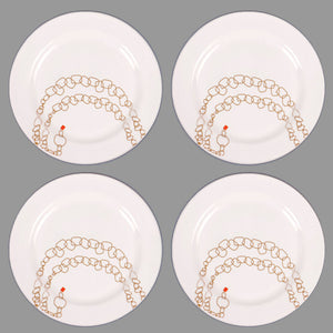 "Jewelry Plate 11"" Ruby Set Of 4"