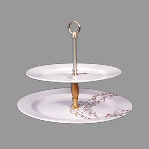 Jewelry Two-Tier Pastry Stand