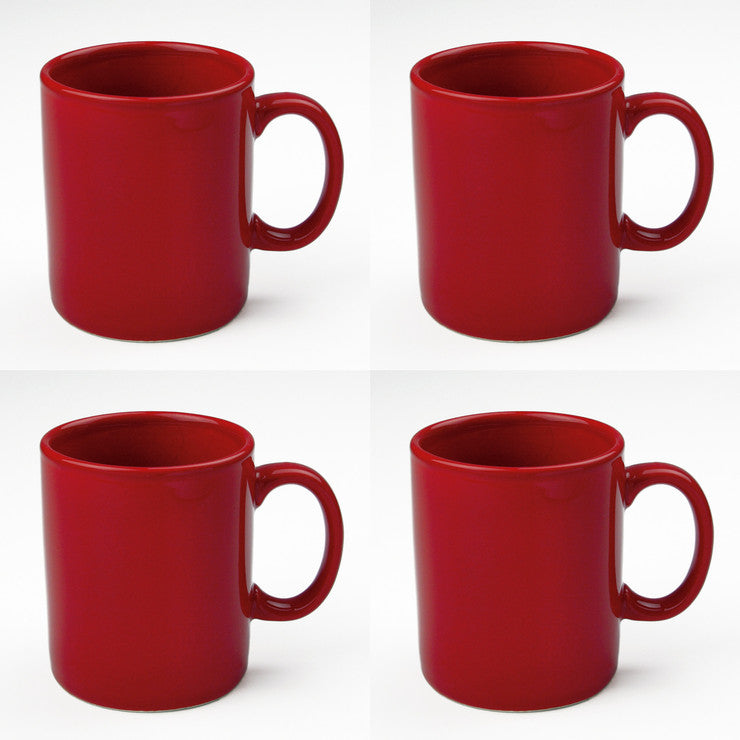 Classic Mug Red Set Of 4