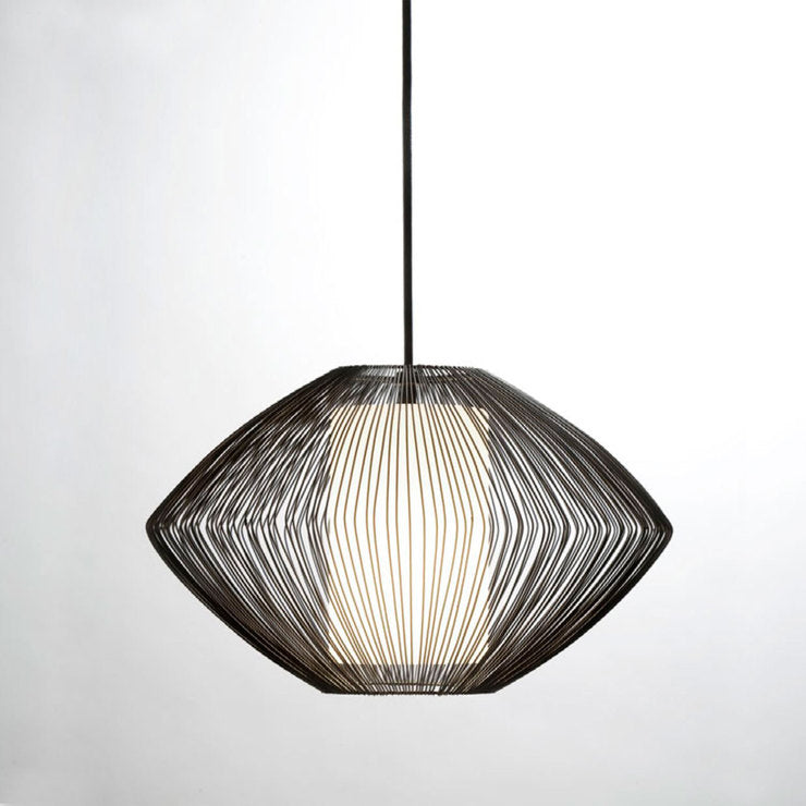 Holm Wire Pendant White Glass