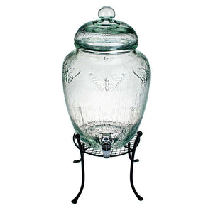 Butterfly Spigot Jar With Stand