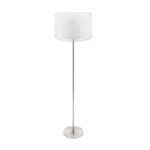 Duo Drum Floor Lamp White