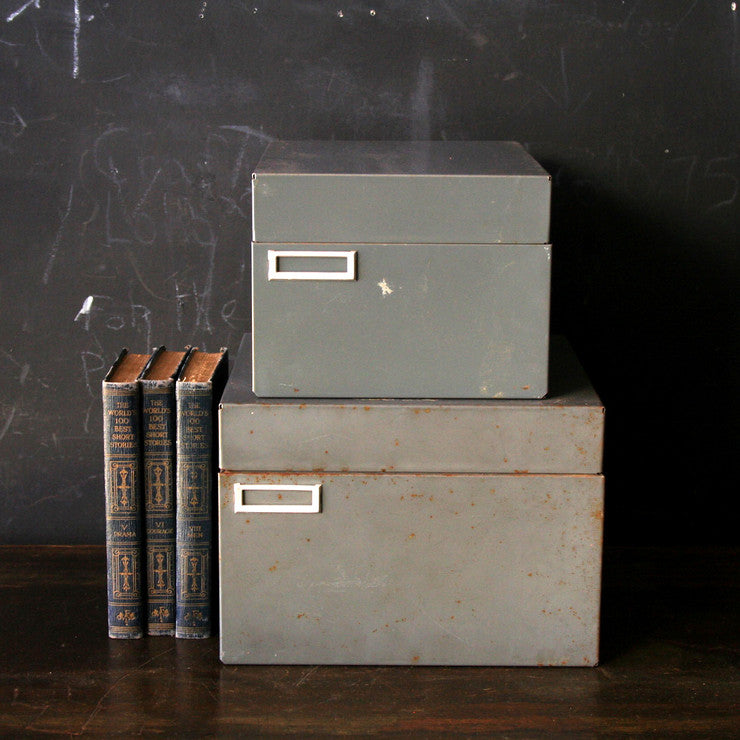 Card Catalogs Pair