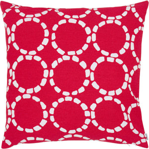 Grande Circles Pillow Red