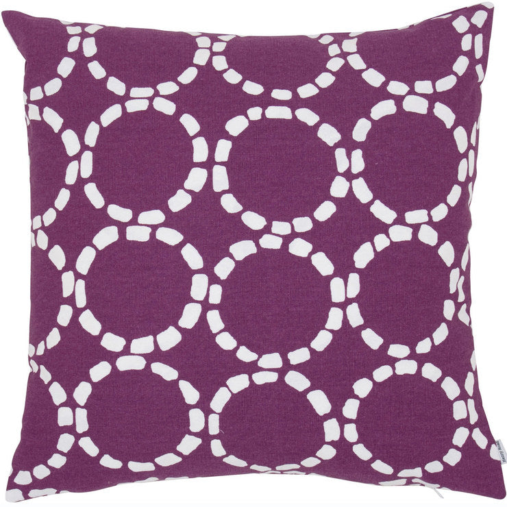 Grande Circles Pillow Purple