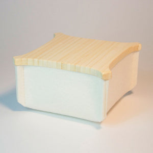 Felt Box w/ Bamboo Top Ivory