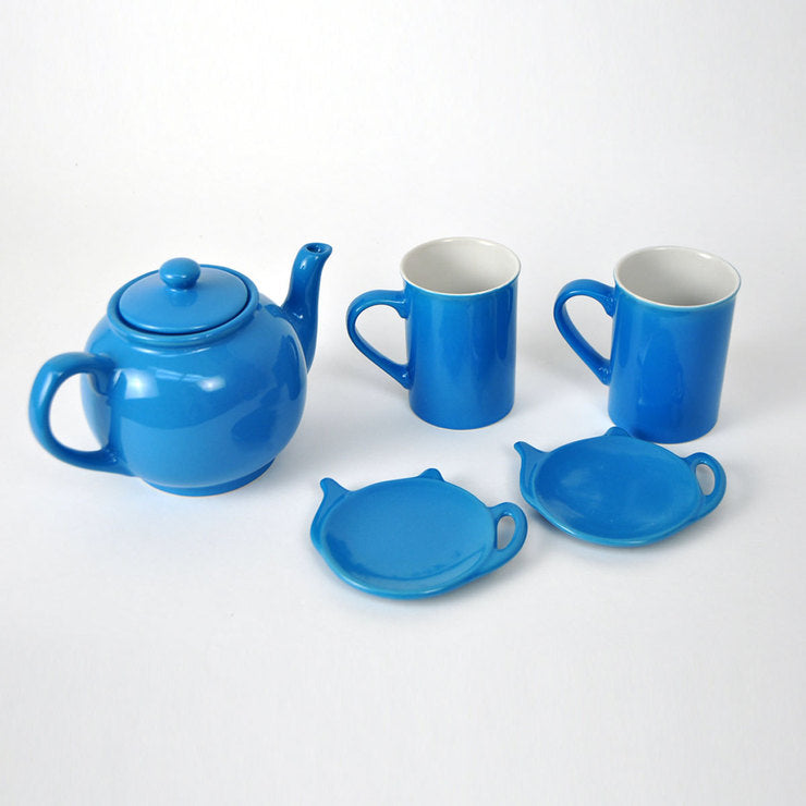 Five Piece Teapot Set Blue