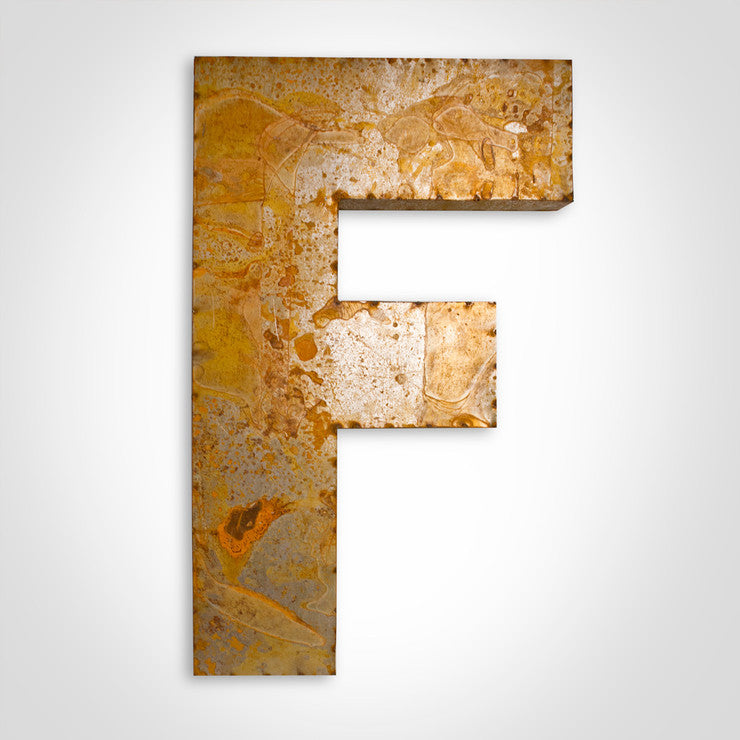 Reclaimed Tin Large Letter F