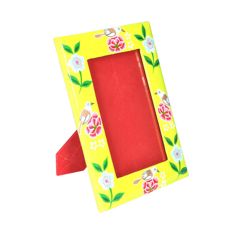 Bird Picture Frame Yellow