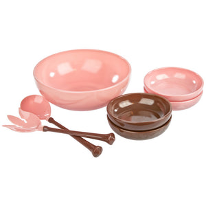 Glass Salad Bowl 7pc Set
