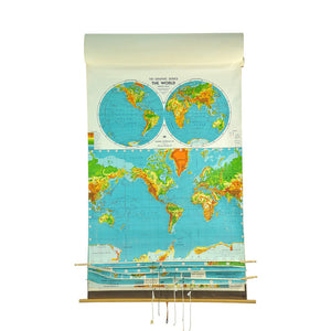 1961 World 7 Layer School Map