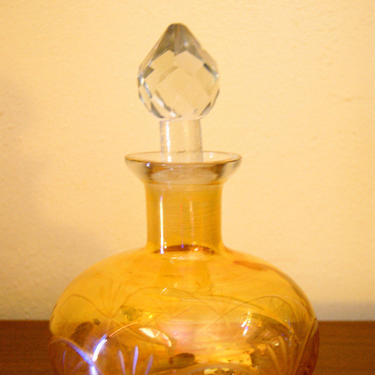 Glass Decanter Amber