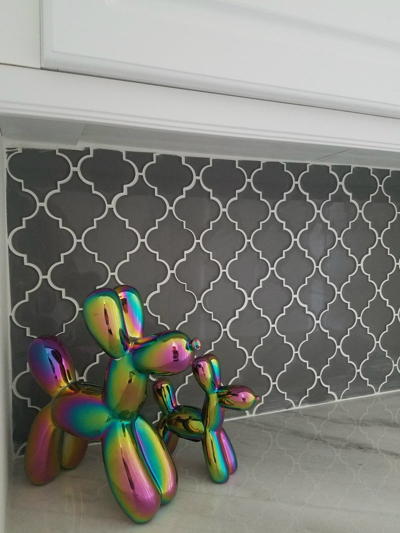 "Interior Illusions Plus Iridescent Balloon Dog Bank - 7.5"" tall"