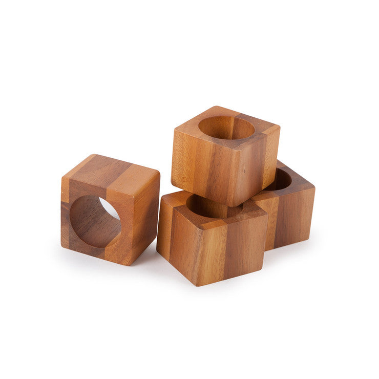 Cube Napkin Ring Set