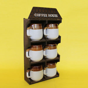 Coffee Cups & Display Set Of 6