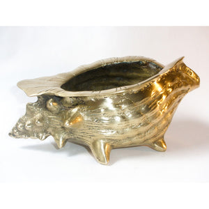 Brass Conch Shell Planter