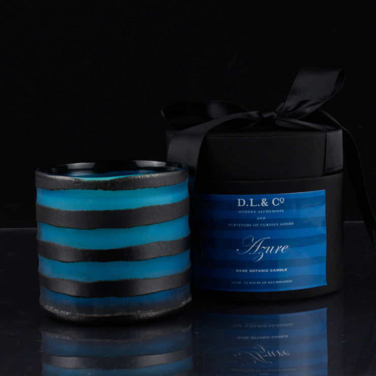 Azure Thick Glass Candle 10oz