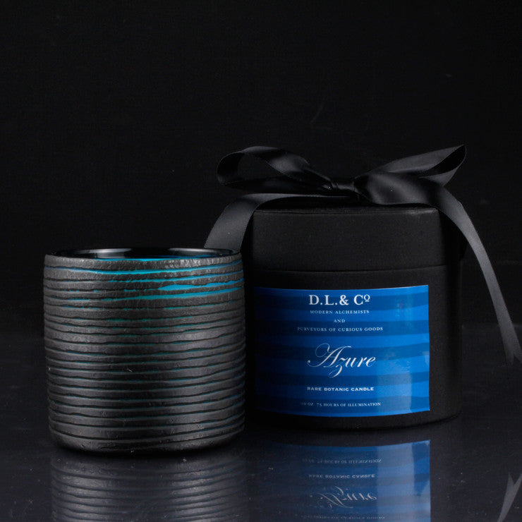 Azure Thin Glass Candle 10oz