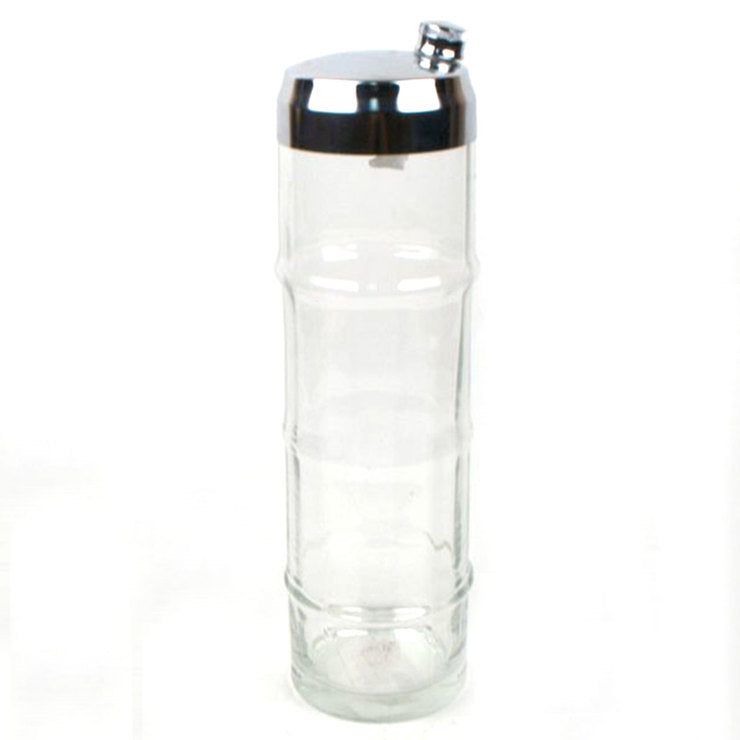 Cocktail Shaker Clear Ribbed