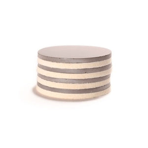 Concrete Felted Coaster Gray 4Pk