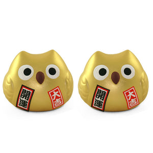 Feng Shui Owl 2.5\ Set Of 2""