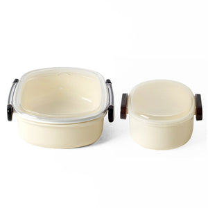 Clear Top Bento Box Cream 2 Pack